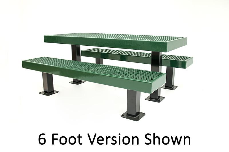 8' Mall Picnic Table