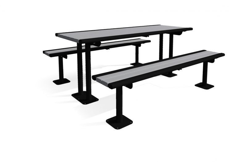Richmond Recycled Multi-Pedestal Picnic Table