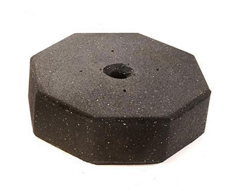 60lb Portable Recycled Rubber Octagonal Sign Base with Optional Wheels
