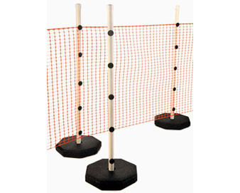 Quick Fence Safety System with 30lb Recycled Rubber Base