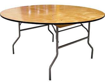 Round Plywood Folding Table - Set of 2