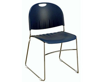 KFI Seating® Plastic Stackable Chair – Sled Base