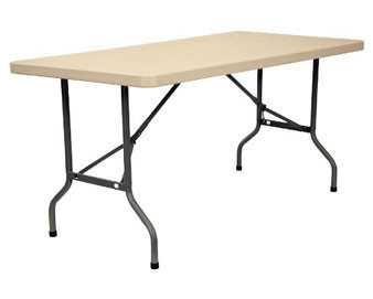 KFI Seating® Blow Molded Rectangular Folding Table – 60L or 72L