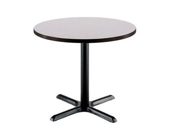 KFI Seating® Round Pedestal Table with X-Base