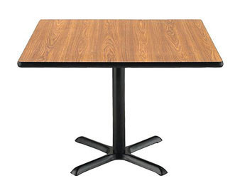 KFI Seating® Square Pedestal Table with X-Base – 36Sq. or 42Sq.