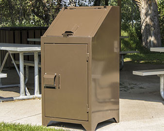 32 Gallon ADA Bear Resistant Trash Receptacle