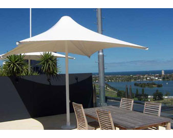 Sunset Series Retractable Shade Structures - Square Design