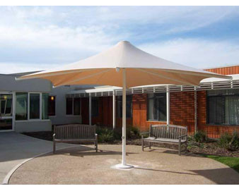 Sunset Series Retractable Shade Structures - Hexagon Design