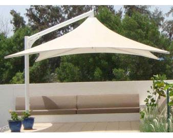 Vista Series Retractable Cantilever Shade Structures - Square Design