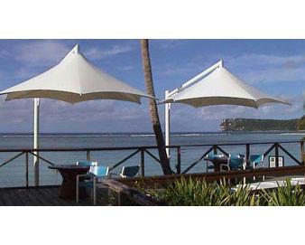 Vista Series Retractable Cantilever Shade Structures - Hexagon Design