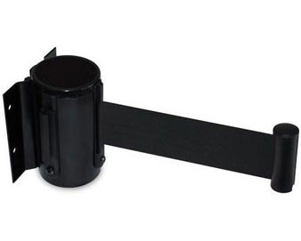 Black Steel Wall Mount with 7'-6L Retractable Belt
