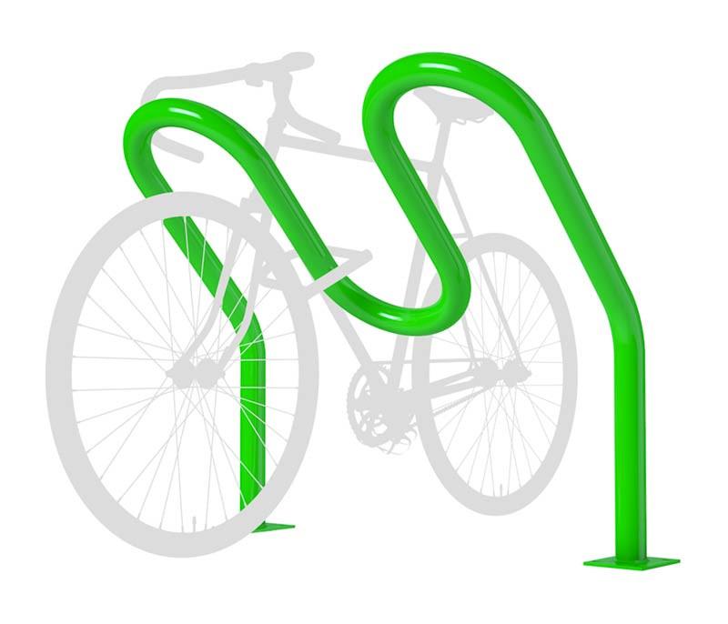 4 Bike - Tilted Wave Rack - Heavy-Duty