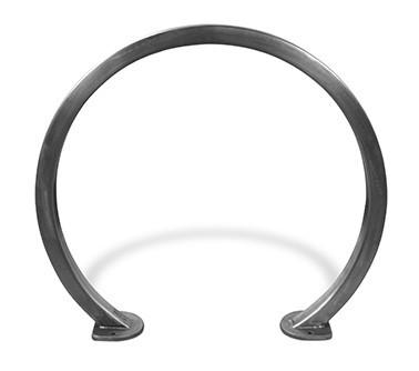 """2 Bike Circular Rack - 2"""" Square Tubing - Stainless Steel"""