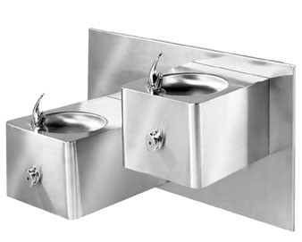 ADA Stainless Steel Two Level Drinking Fountain