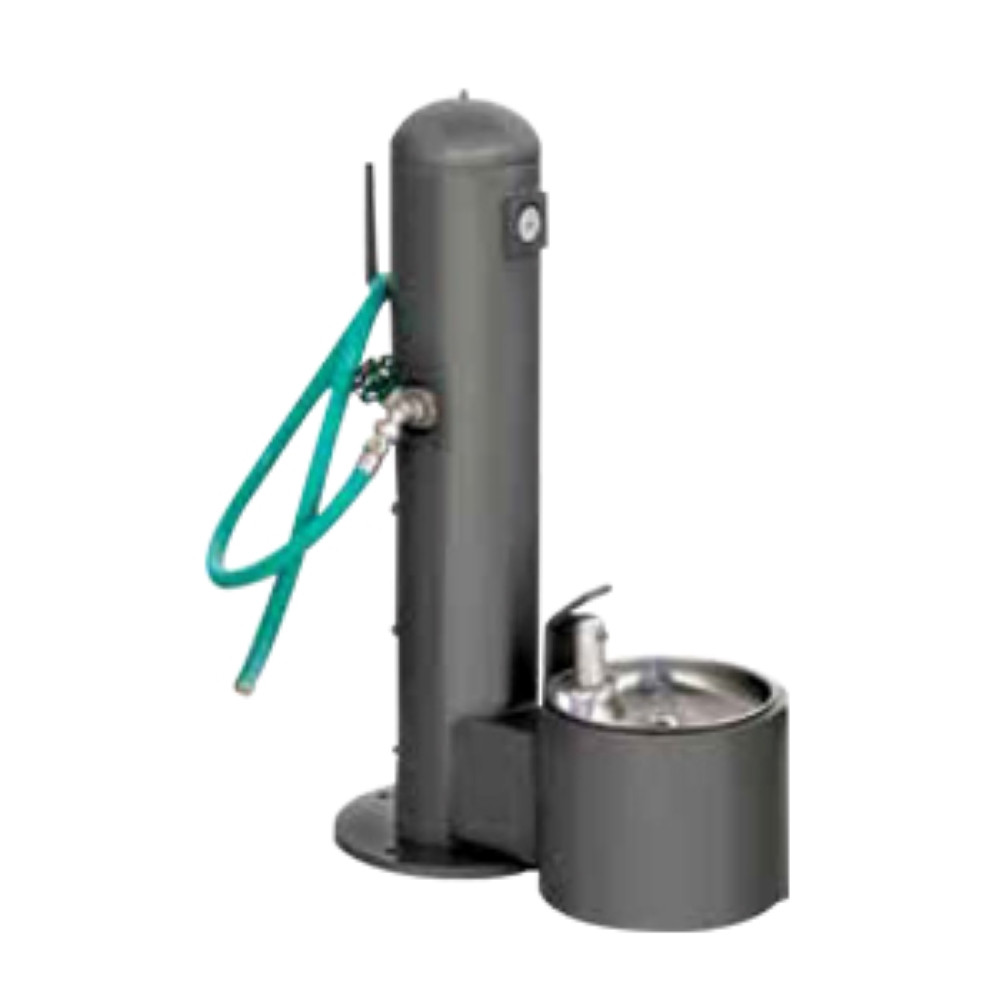 Doggy Drinking Fountain with Hose Bibb and Hose