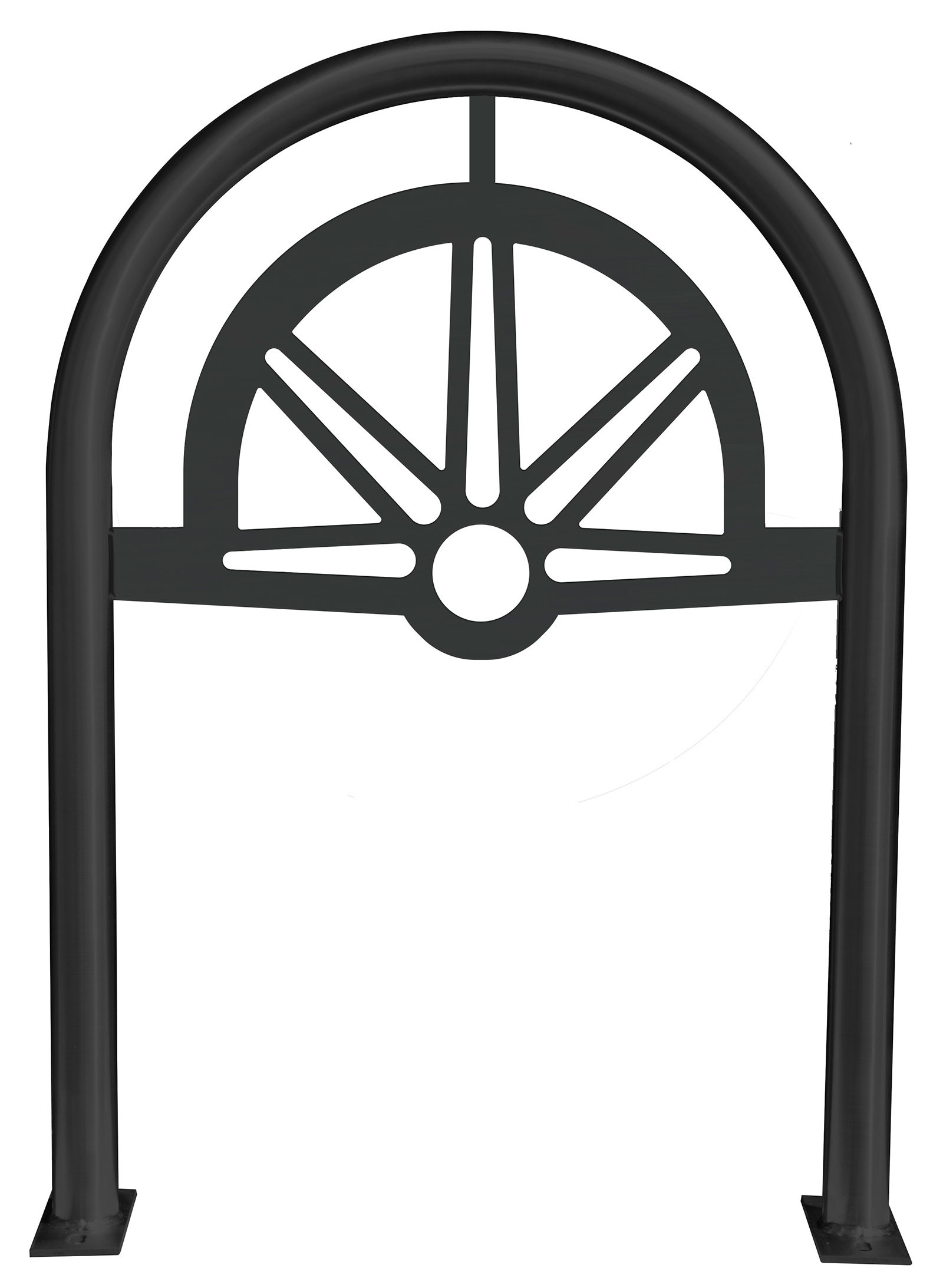 Spindle Laser Cut Panel Architectural Bike Rack