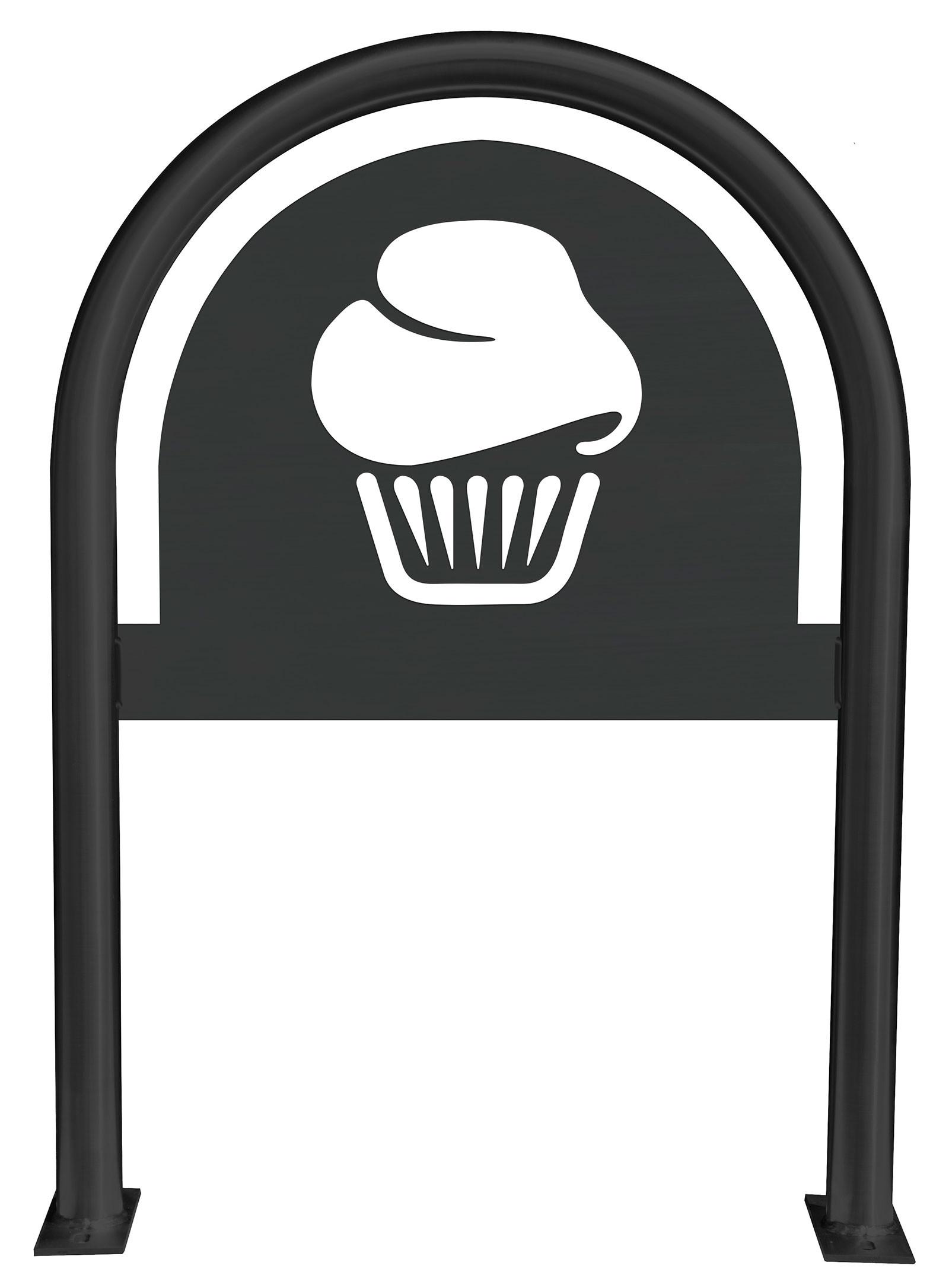Cupcake Laser Cut Panel Themed Bike Rack
