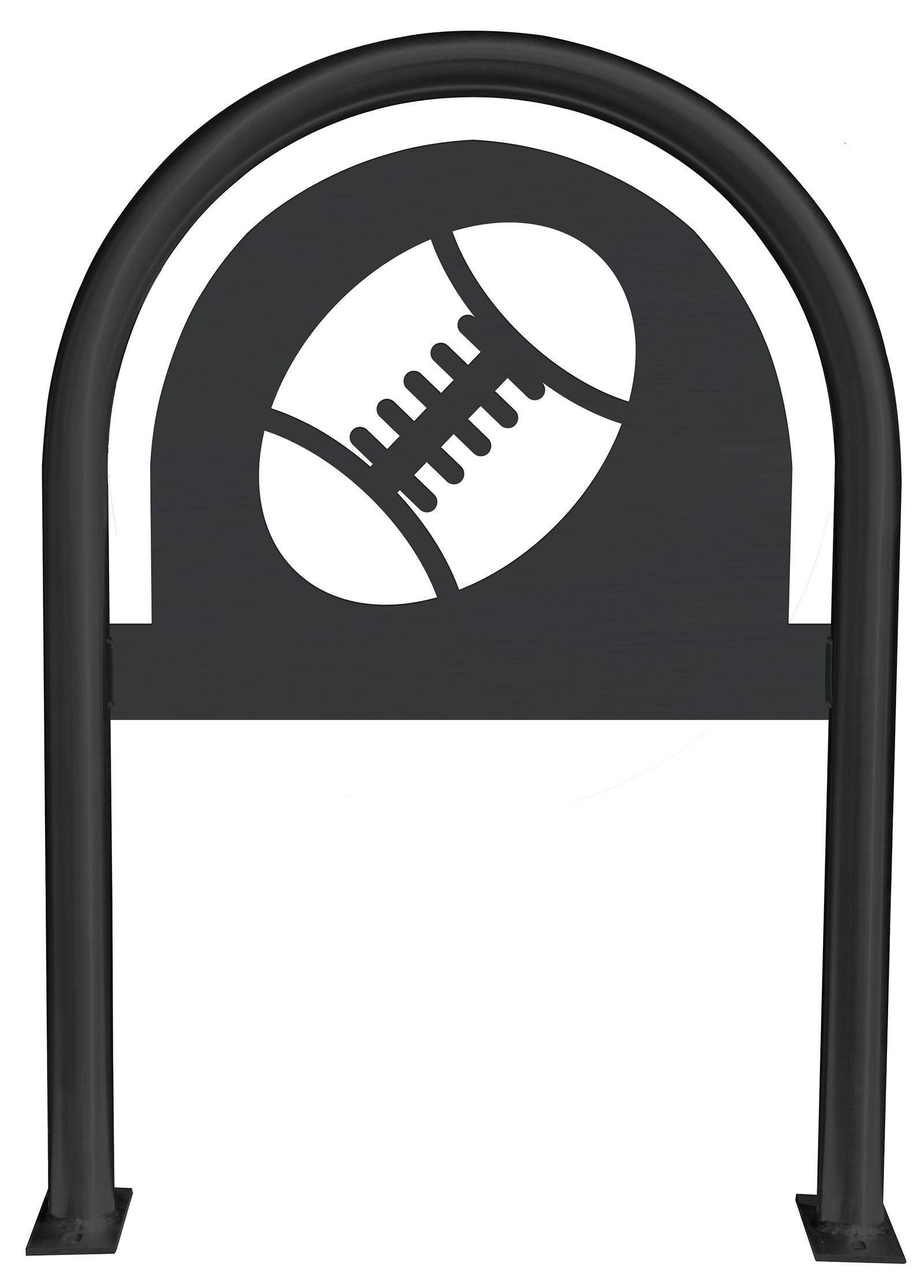 Football Laser Cut Panel Themed Bike Rack