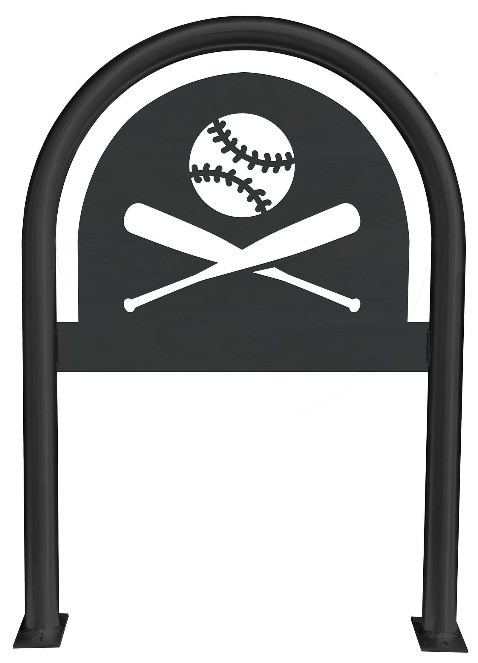 Baseball Laser Cut Panel Themed Bike Rack