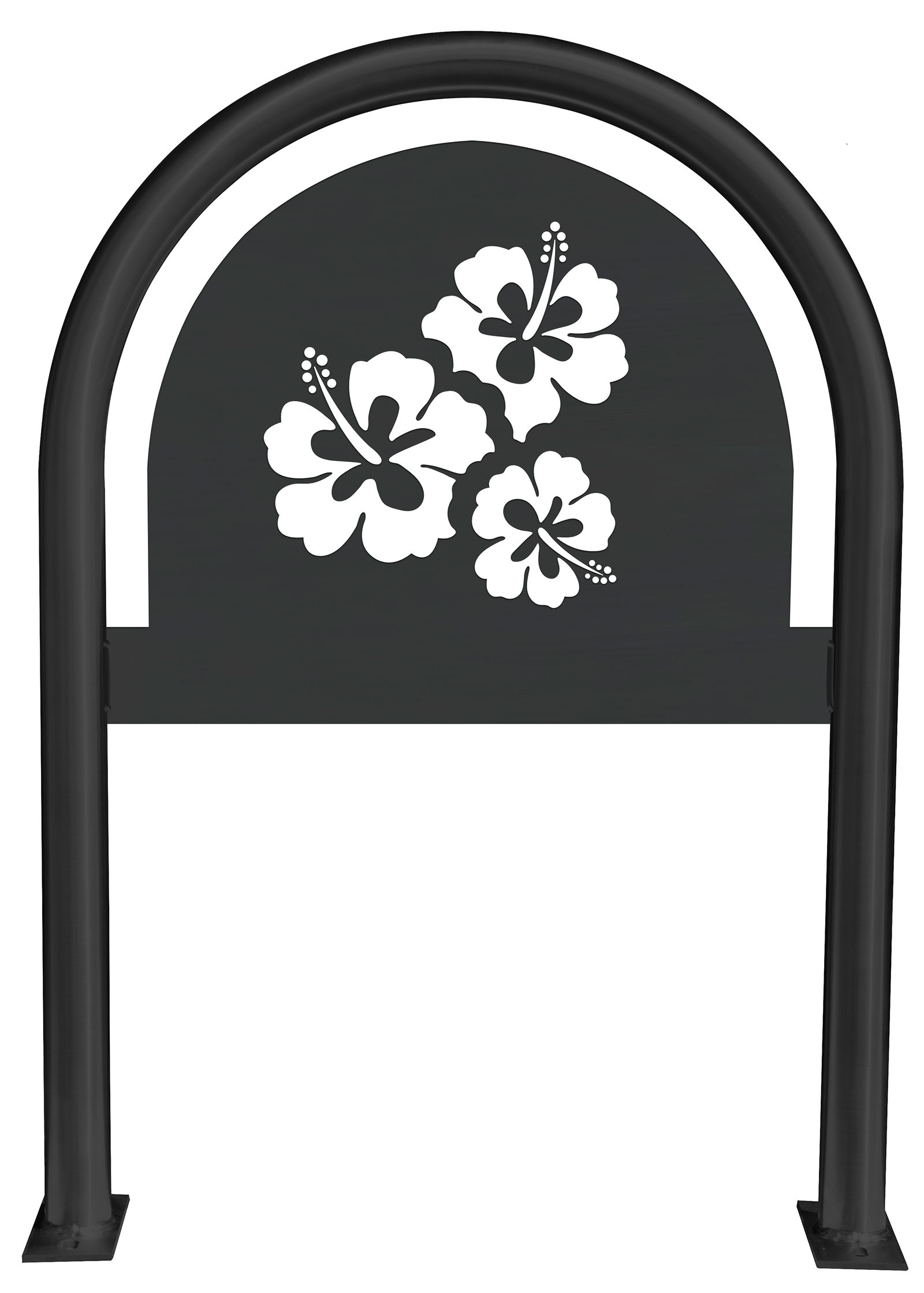 Hibiscus Laser Cut Panel Themed Bike Rack