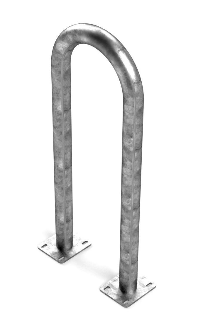 "3 Bike Sonic Wave Rack (2 3/8"" Heavy-Duty) - Galvanized"