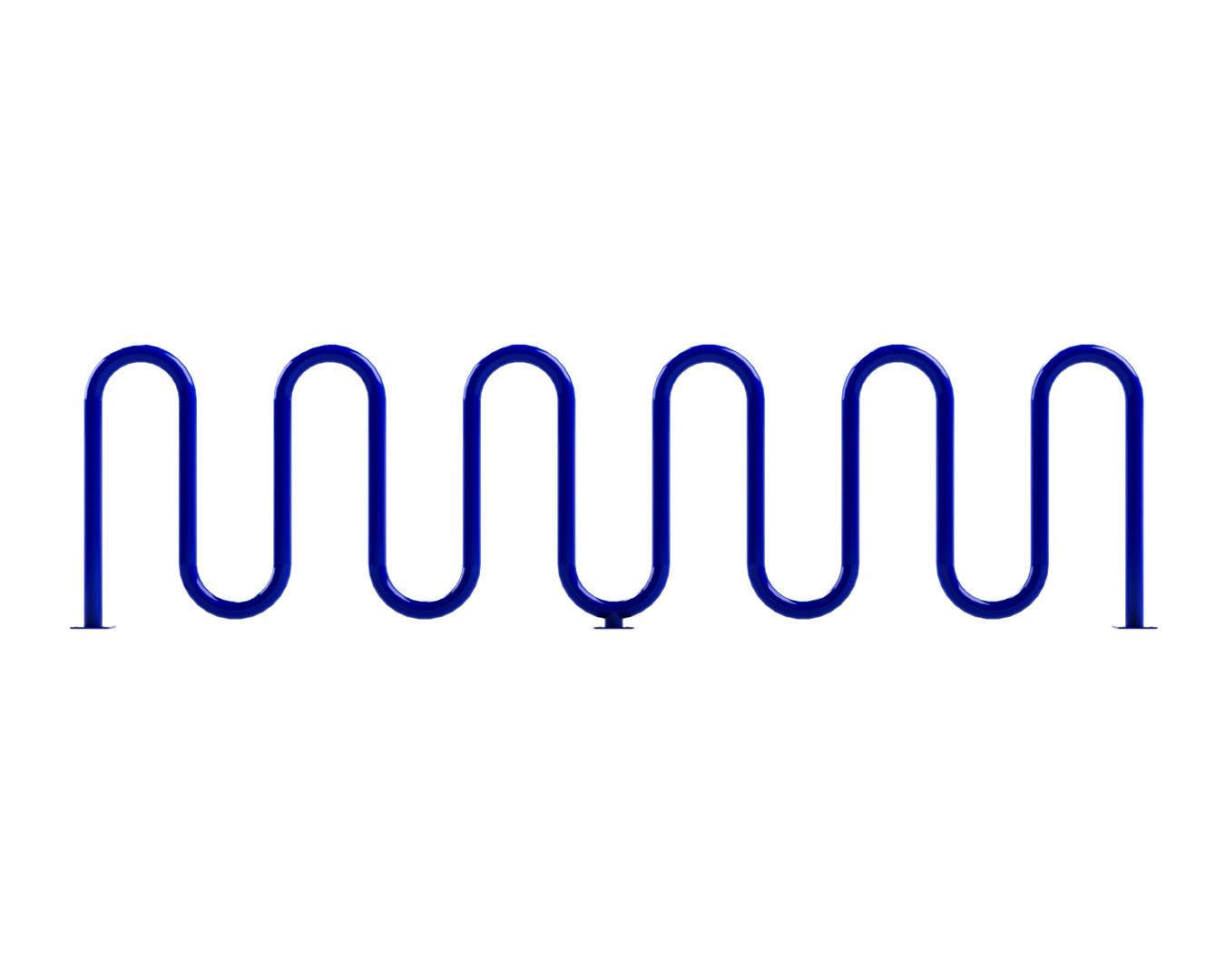 """13 Bike Sonic Wave Rack (2 3/8"""" Heavy-Duty)"""