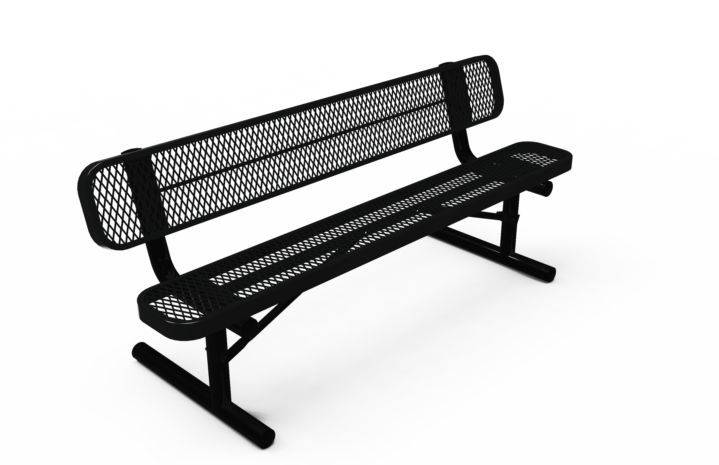 6-Ft. Park Bench with Back