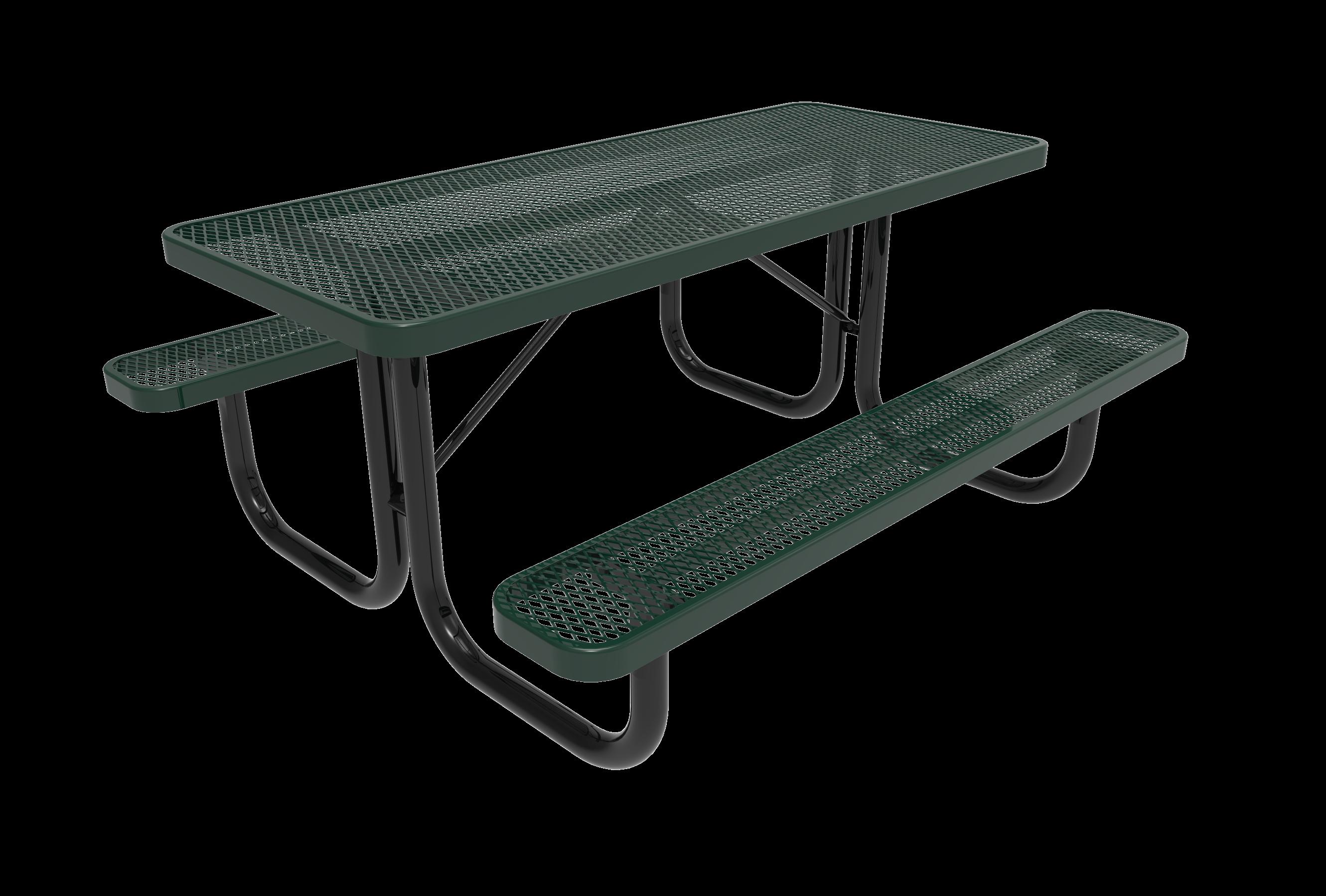 6-Ft. Heavy Duty Rectangular Picnic Table