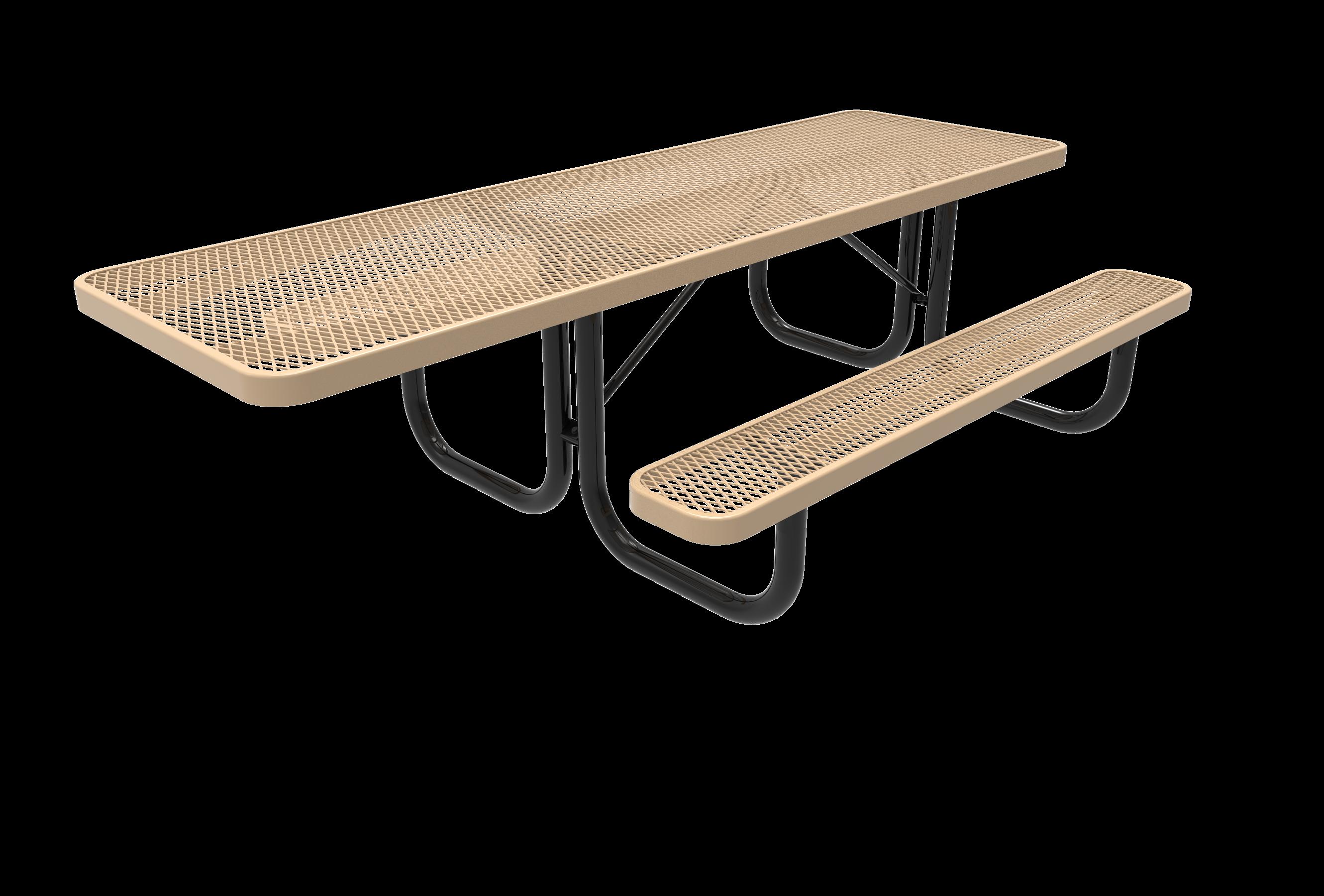 8-Ft. Heavy Duty Rectangular ADA Picnic Table