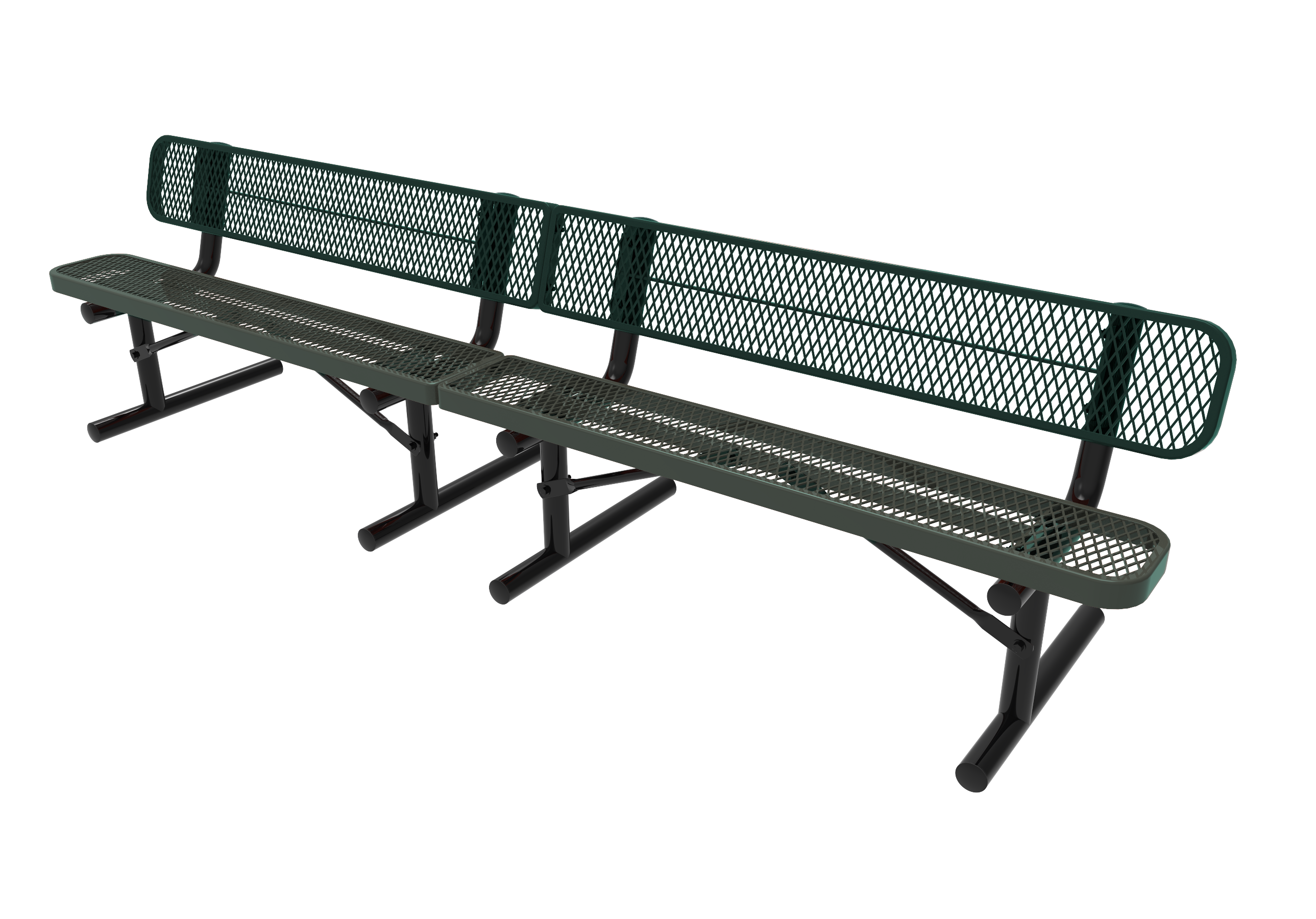 15-Ft. Park Bench with Back