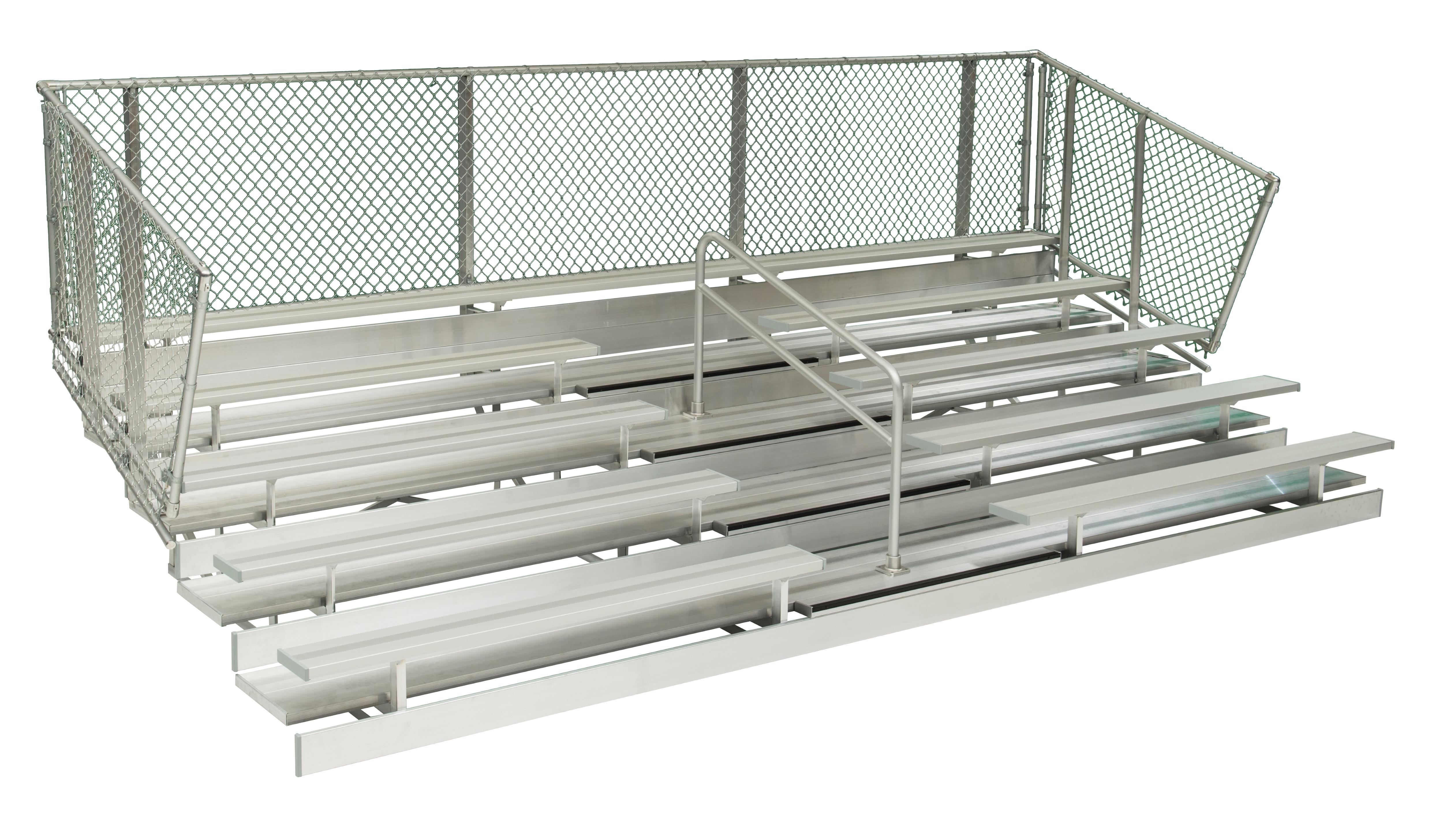 5 Row Aluminum Bleachers - Midfielder Series