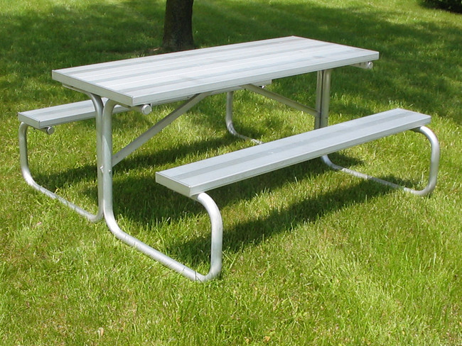 All-Aluminum Picnic Table