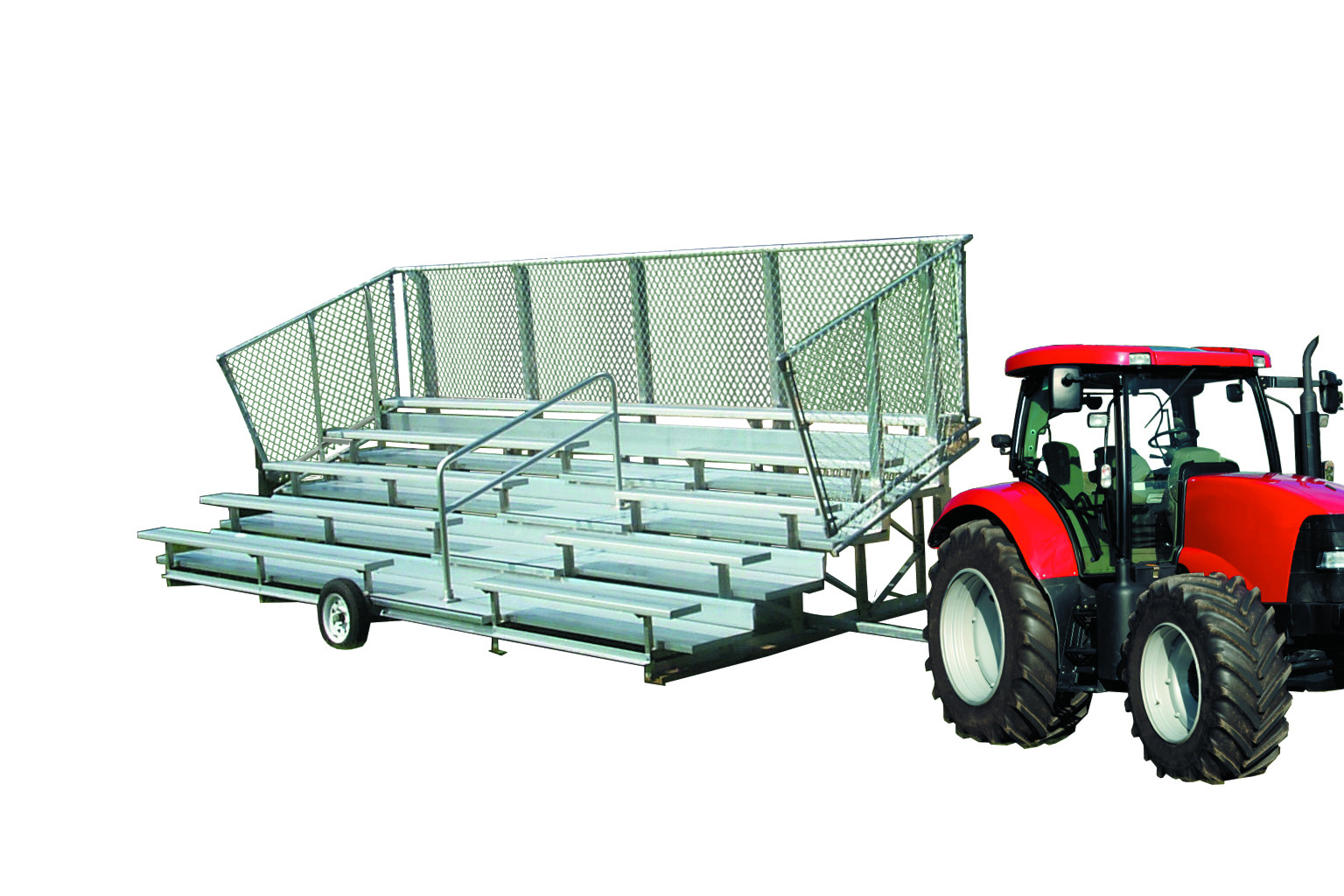 5 Row Transportable Bleachers - Away Game Series