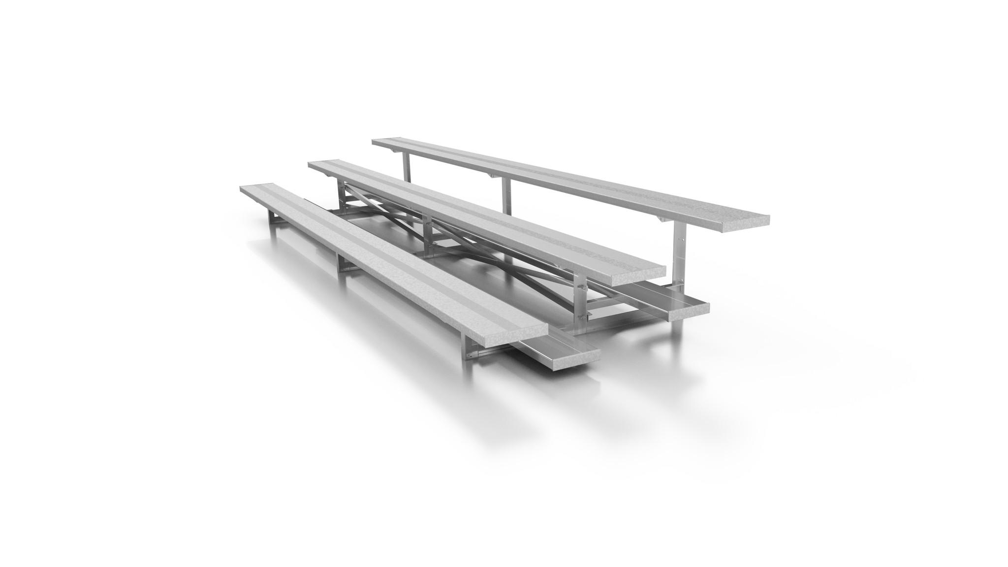 3 Row Aluminum Bleachers Sideline Series The Park Catalog