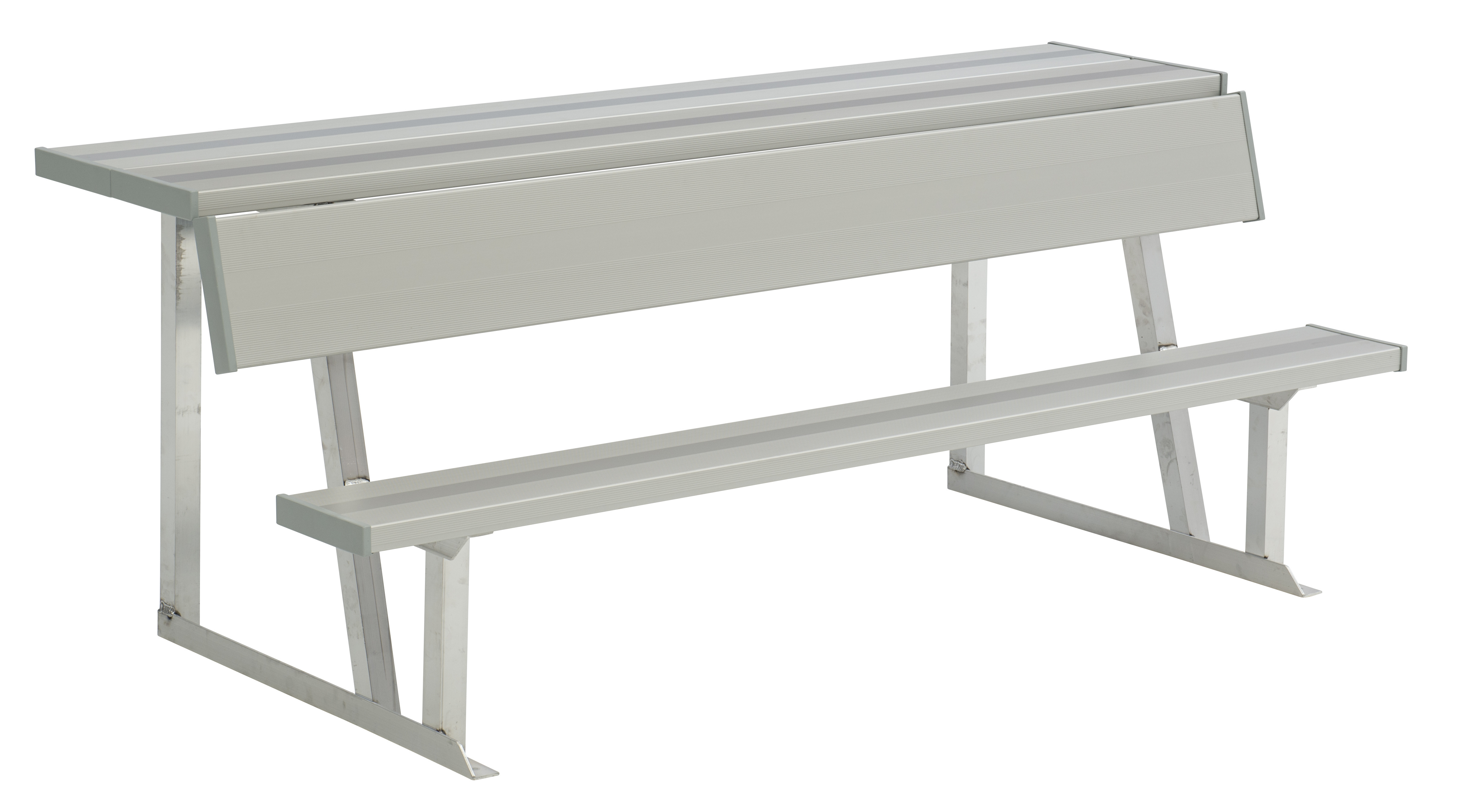 All-Aluminum Player's Bench with Back & Shelf