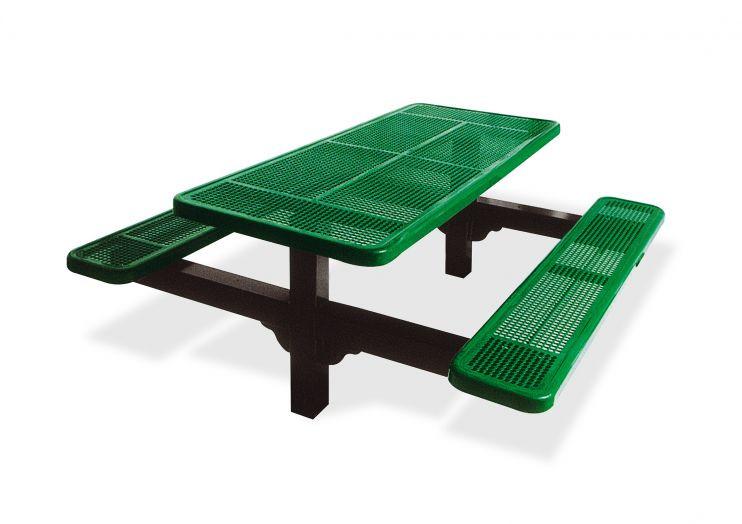 6' Dual Pedestal Picnic Table
