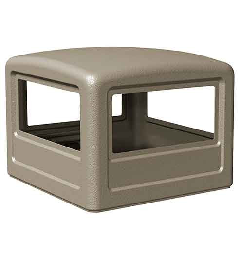 Square Dome Lid for 38-Gal. 108-series Waste Containers