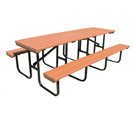 8-Ft. Recycled Plastic Picnic Table with Metal Framework