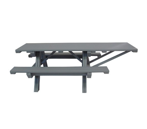 8-Ft. Wheelchair Accessible Recycled Plastic Table - Single-Side Overhang