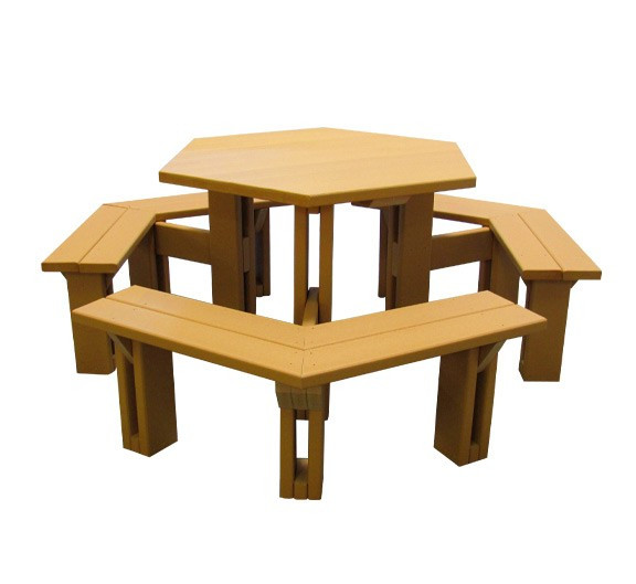 45 Recycled Plastic Hex Picnic Table