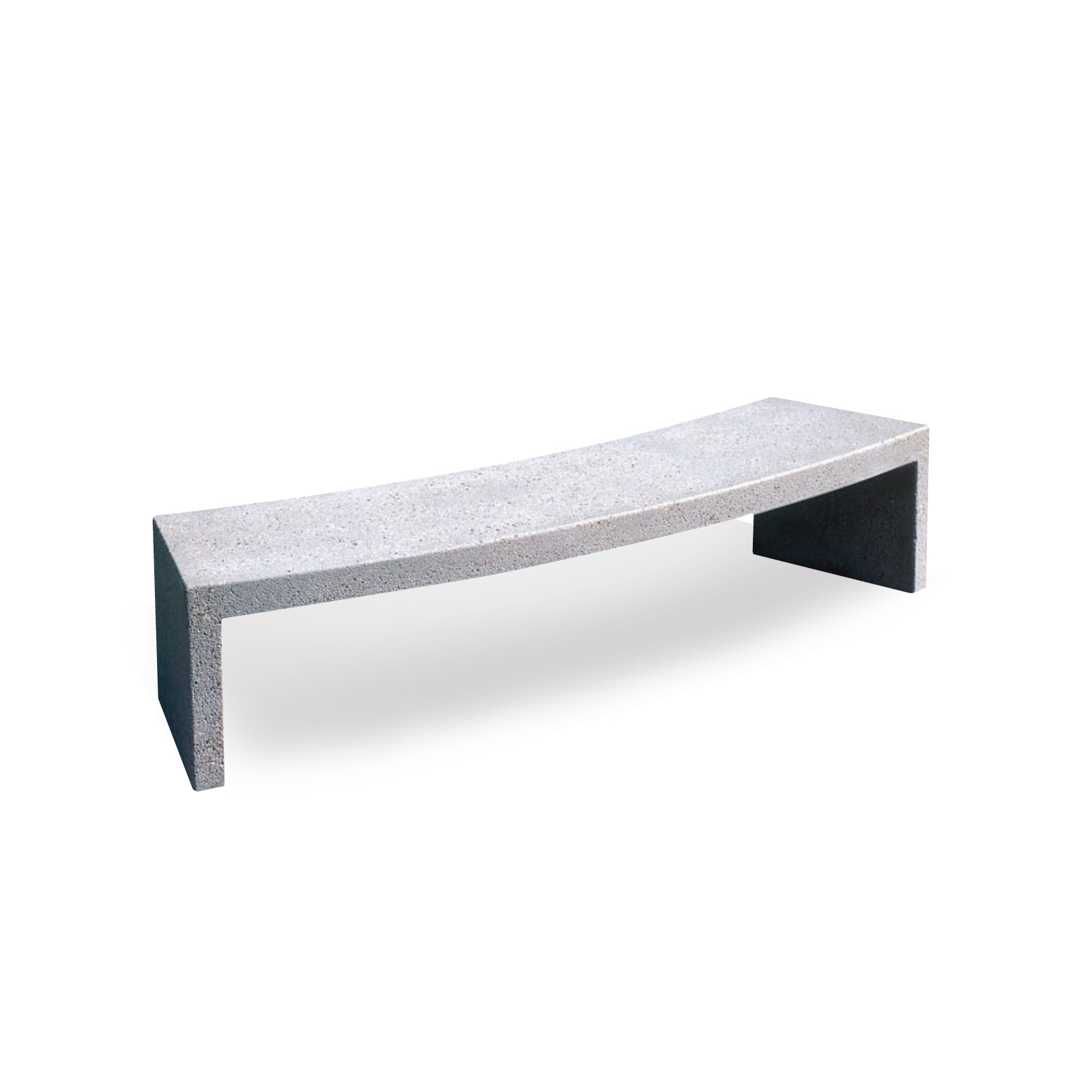 Concrete Radius Bench - 6-ft3