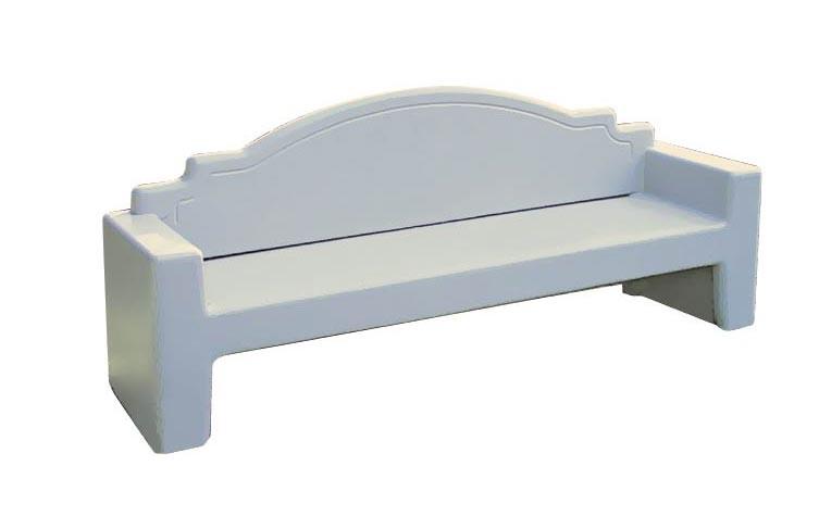 Plain Back Style Concrete Bench