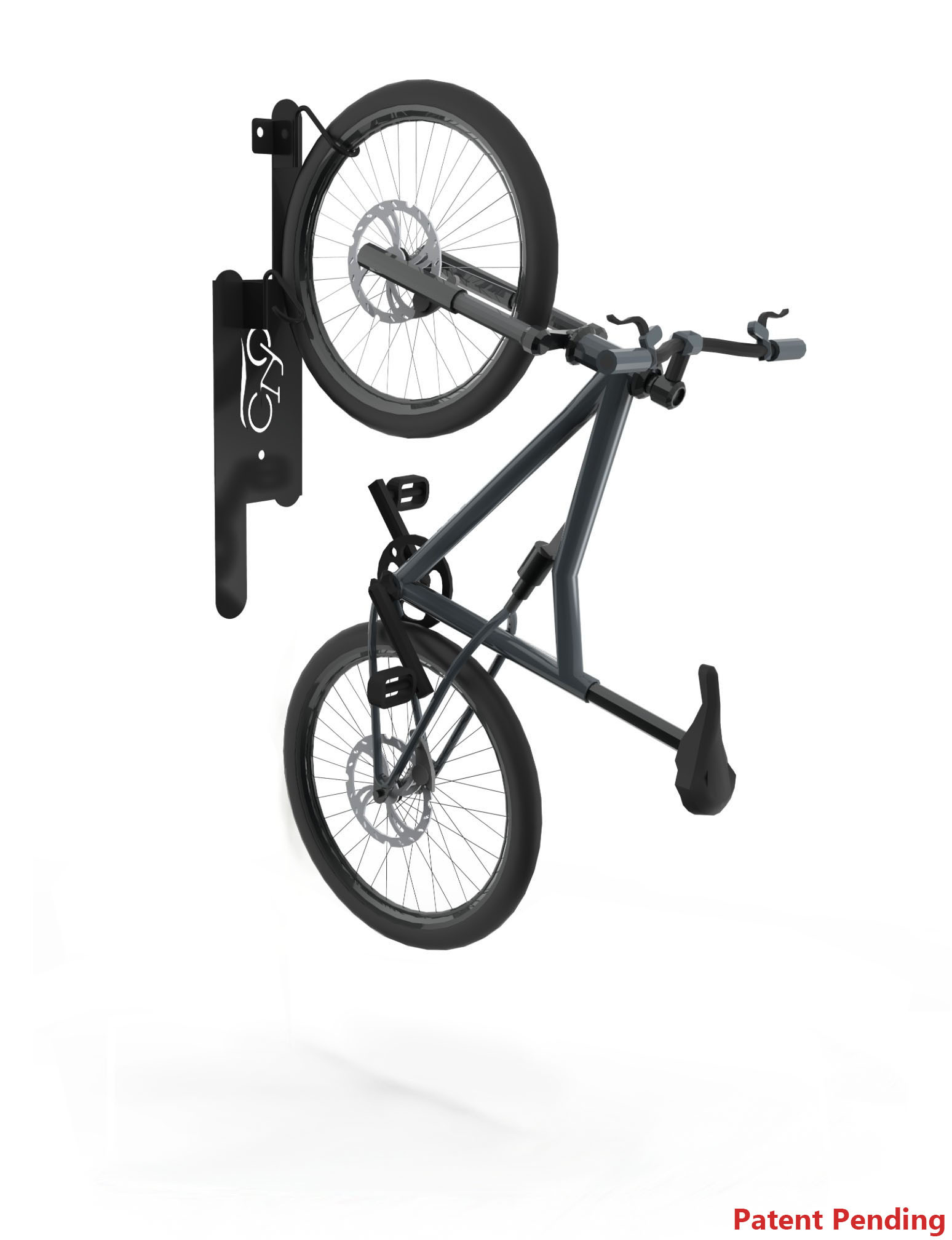 DoubleUp Wall-Mounted Bike Rack - 2 Bikes (Residential - Non-Locking)