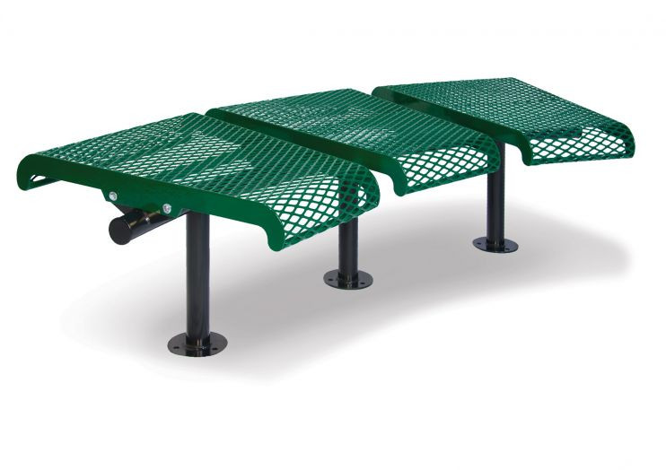 Concave Benches without back - 15 degree