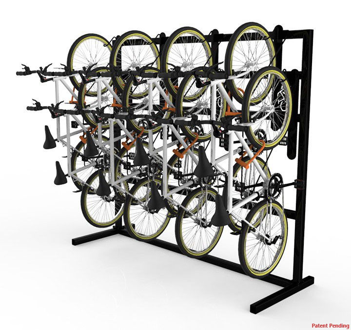 DoubleUp - Single Sided Free-Standing Vertical Bike Rack