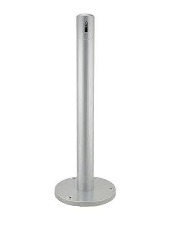 Executive Series Steel Post Cigarette Receptacle - Powder Coated - Silver