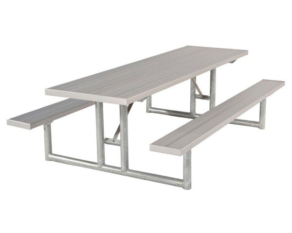 Aluminum Picnic Table with Heavy-Duty Frame