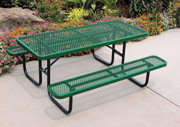 4 Heavy Duty Rectangular Picnic Table The Park Catalog