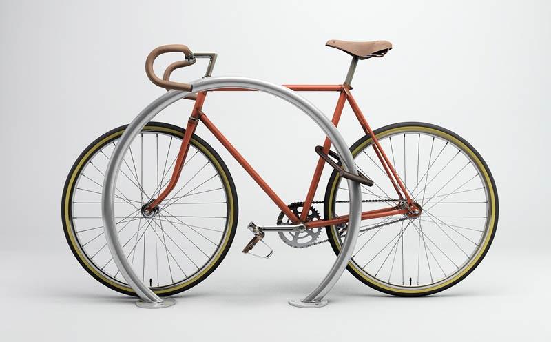 Horseshoe Bike Rack - Galvanized
