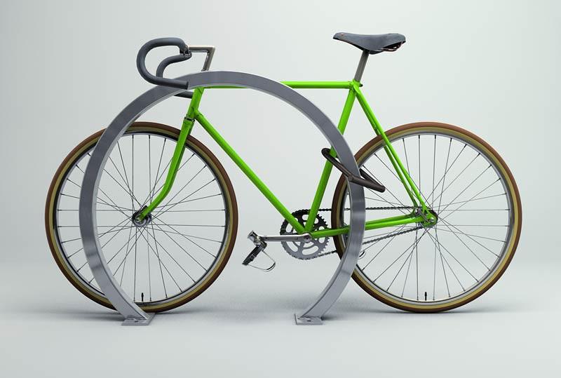Horseshoe Bike Rack - Square Tube - Galvanized